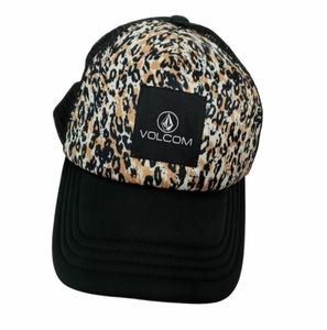 VOLCOM animal print mesh snap back hat cap